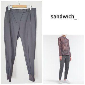 SANDWICH_ Grey Tapered Leg Comfort Fit Pants
